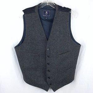 J Crew Factory Thompson Vest Herringbone Wool
